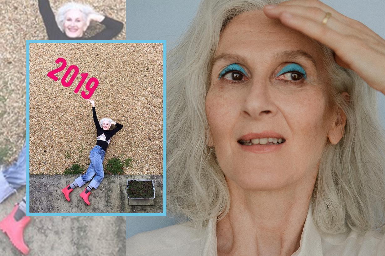 Sylviane Degunst the old model