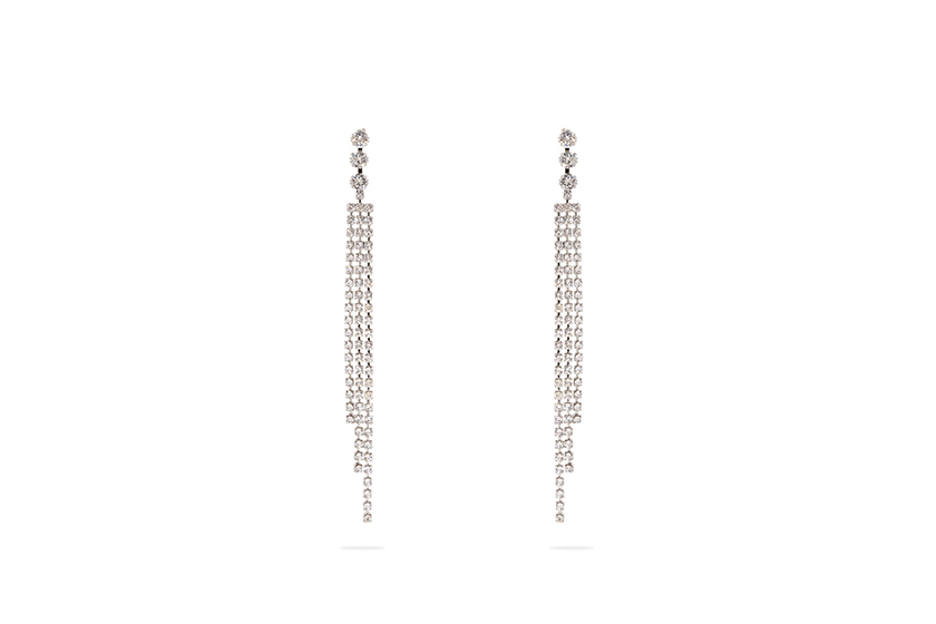Isabel Marant Tassel-Drop Crystal Earrings