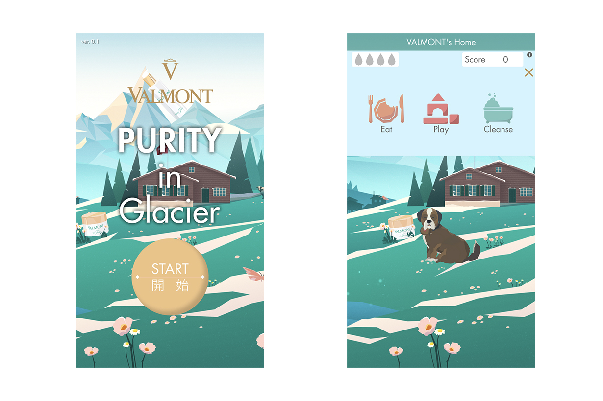 Valmont PURITY in Glacier Pop-up Store