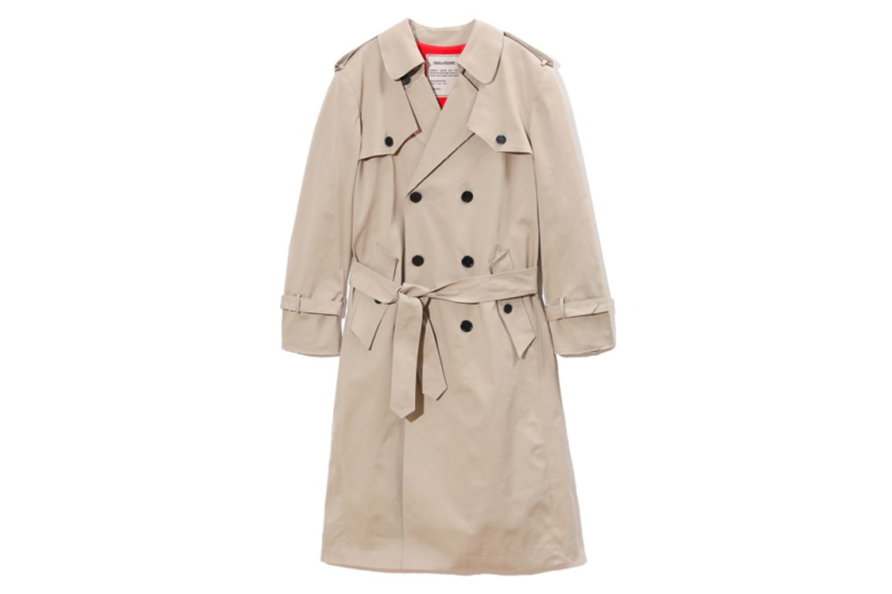 Zadig & Voltaire Double Breasted Trench Coat