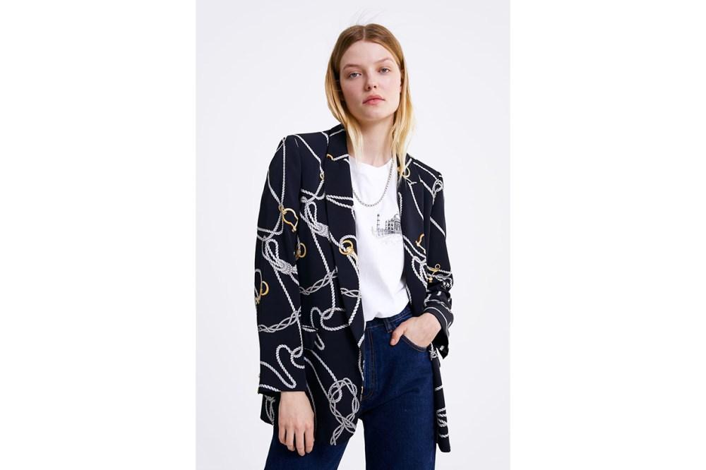 Zara Chain Print Blazer