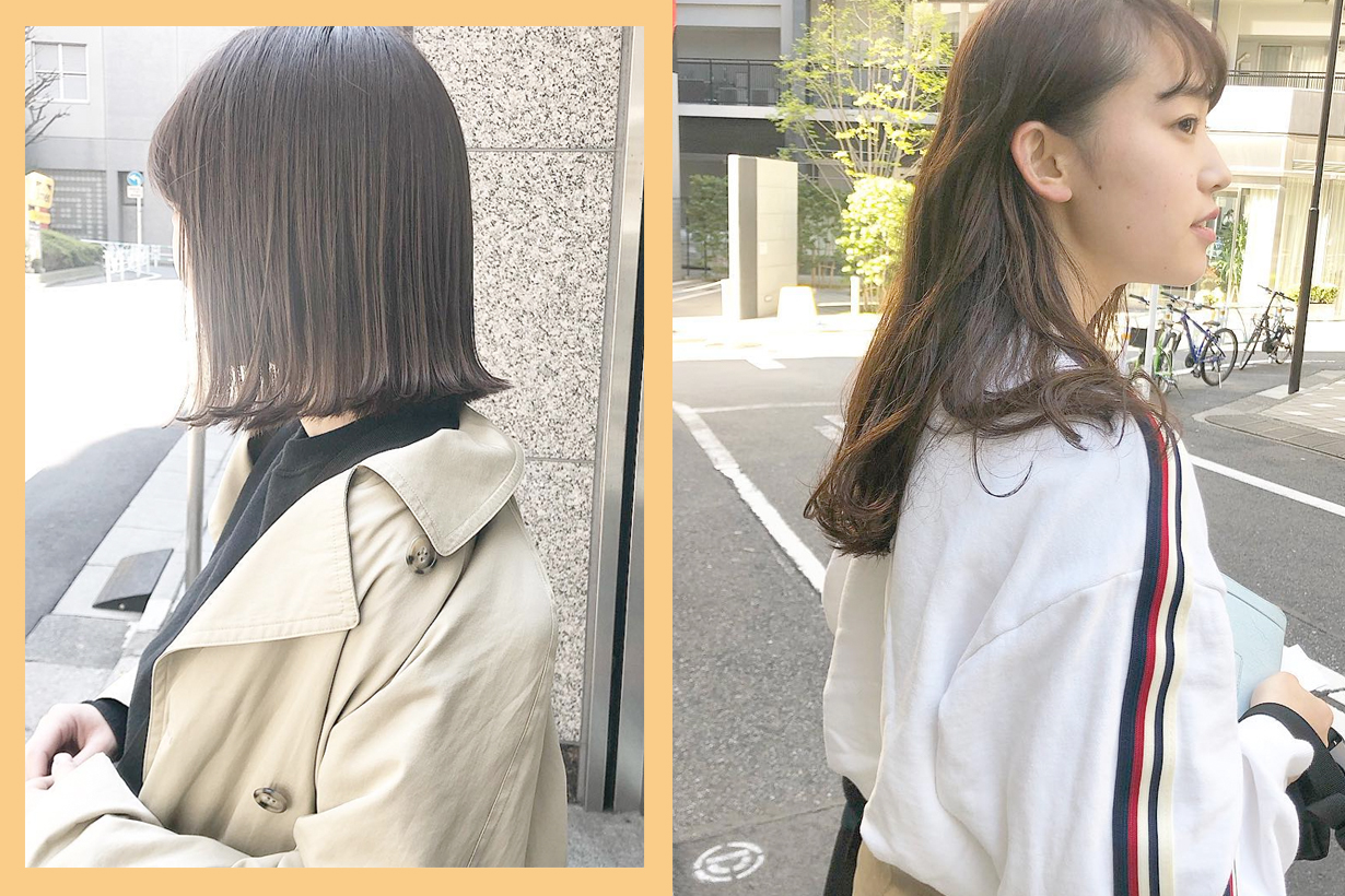 japanese girl salon spring summer dye color
