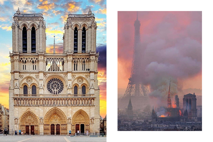 Notre-Dame de Paris Fire YSL Gucci Kering Donation 100 million
