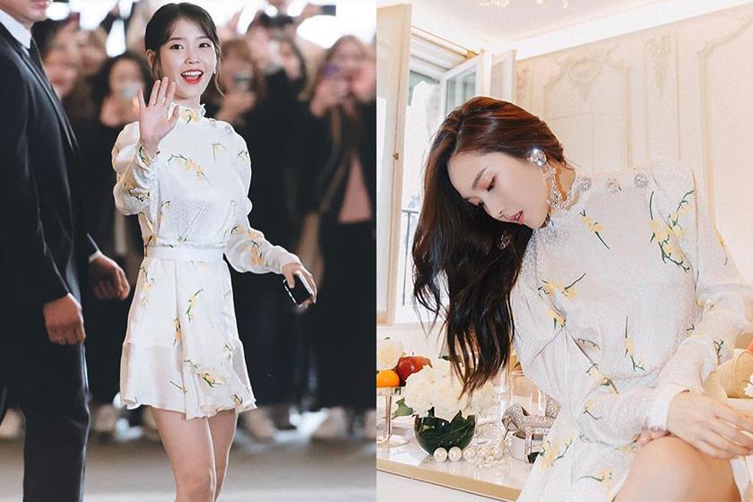 IU Red Velvet Irene Jessica Jung Same Alessandra Rich Dress