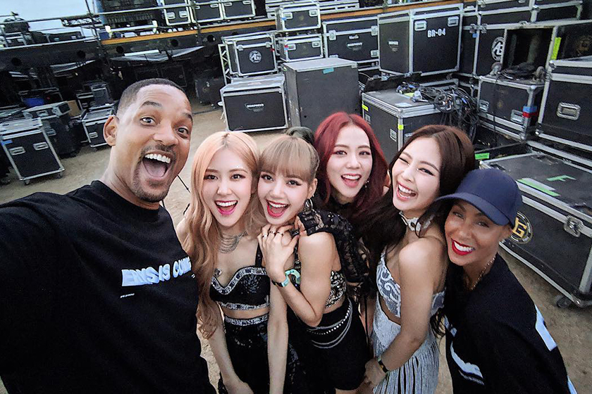 Blackpink Coachella Will Smith Fan Instagram photo