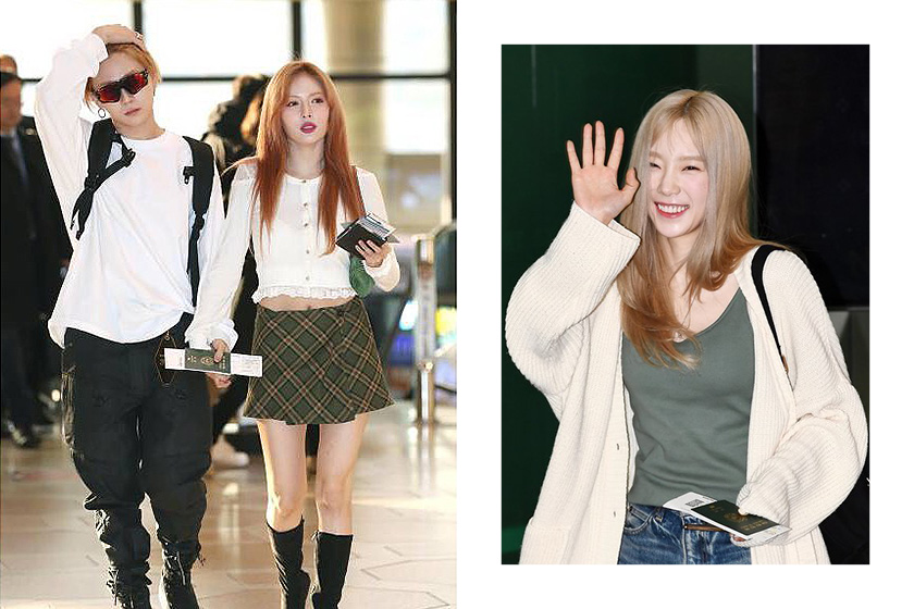 Find Korean Idol  Dating Rumours from Airport Fashion