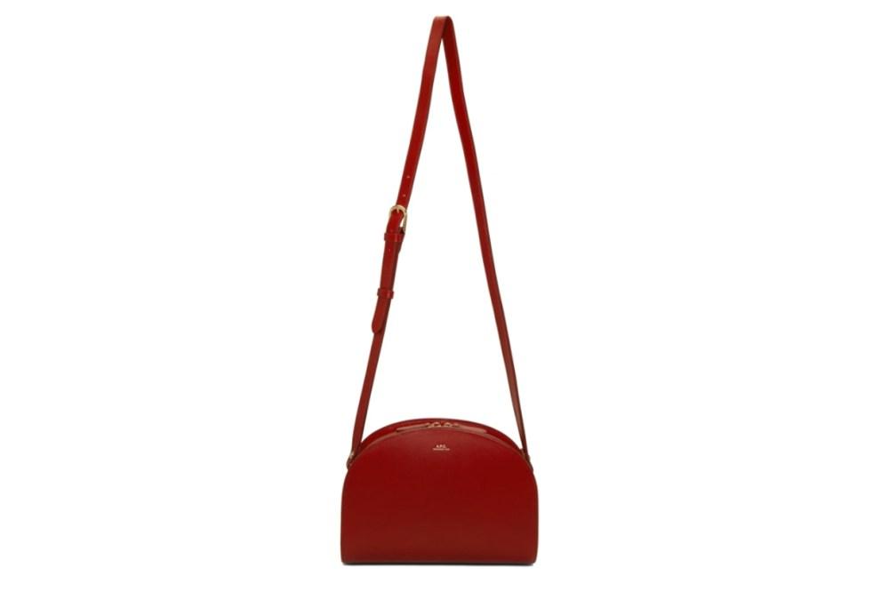A.P.C. Red Half-Moon Bag