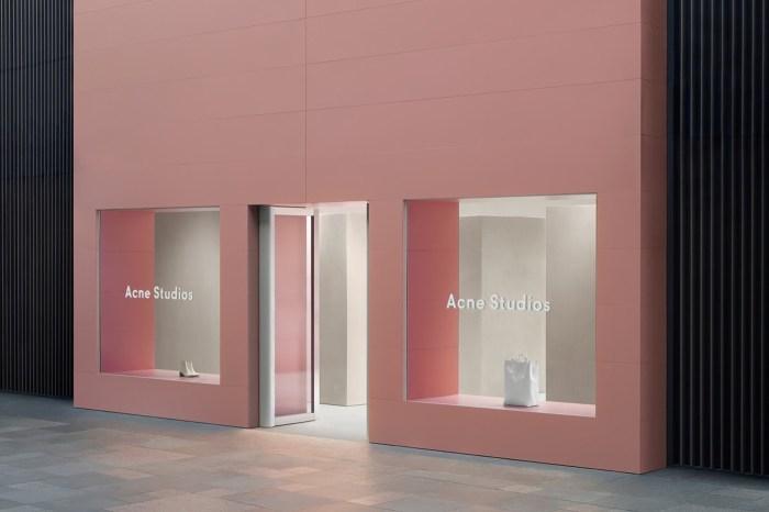 Acne Studios 全新成都店舖落成,整面粉紅色外牆讓人都想朝聖!