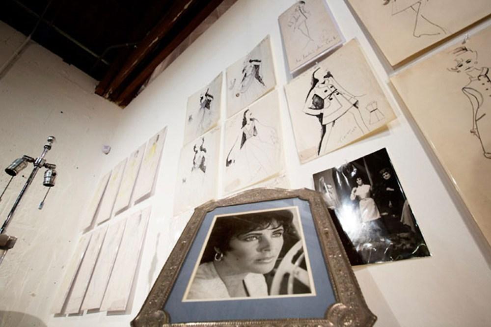 karl lagerfeld fashion drawings already to bid