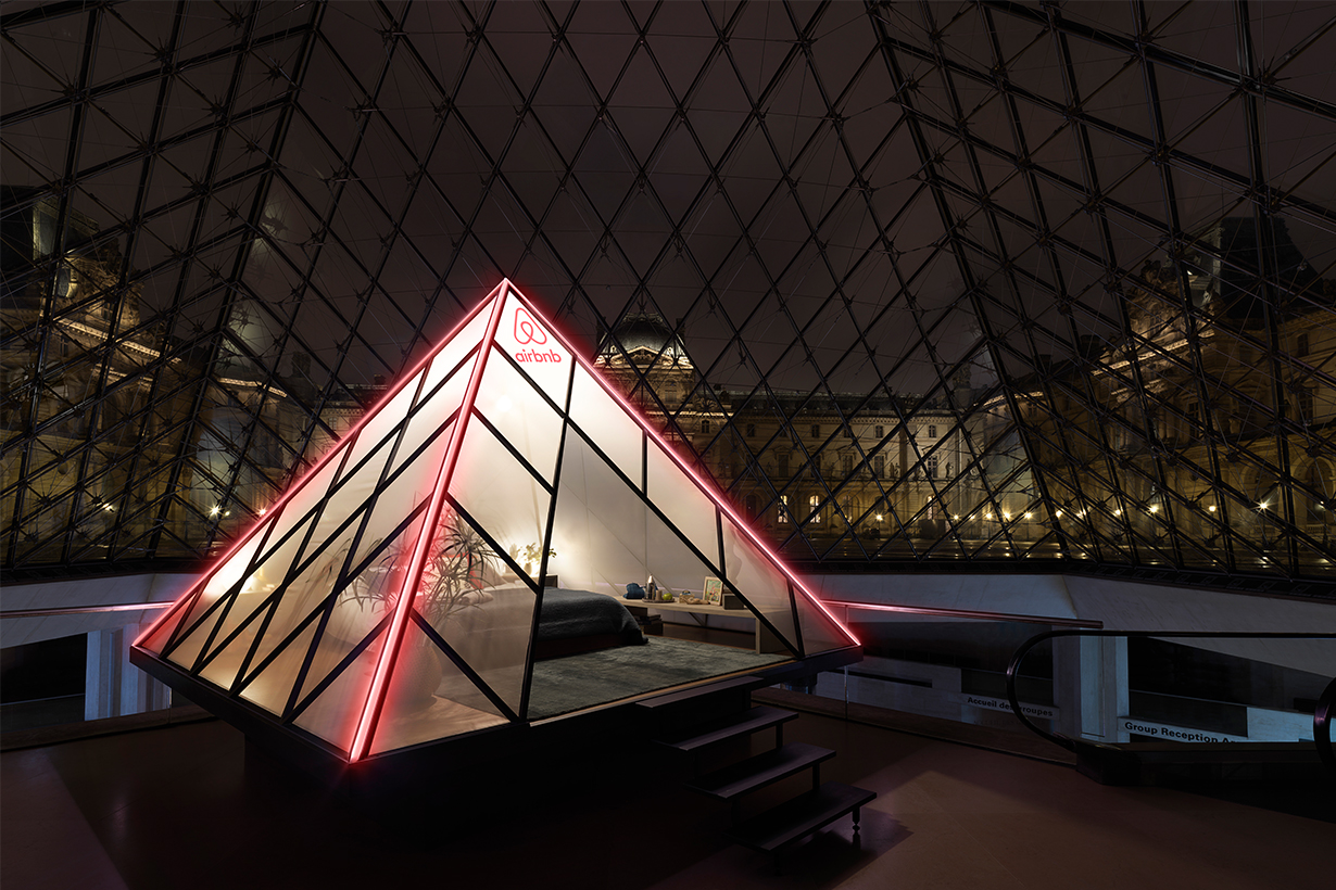 Airbnb A night at the Louvre travel