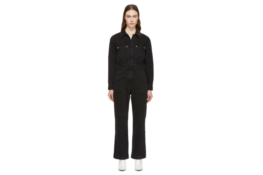 Alexachung Black Denim Boiler Jumpsuit