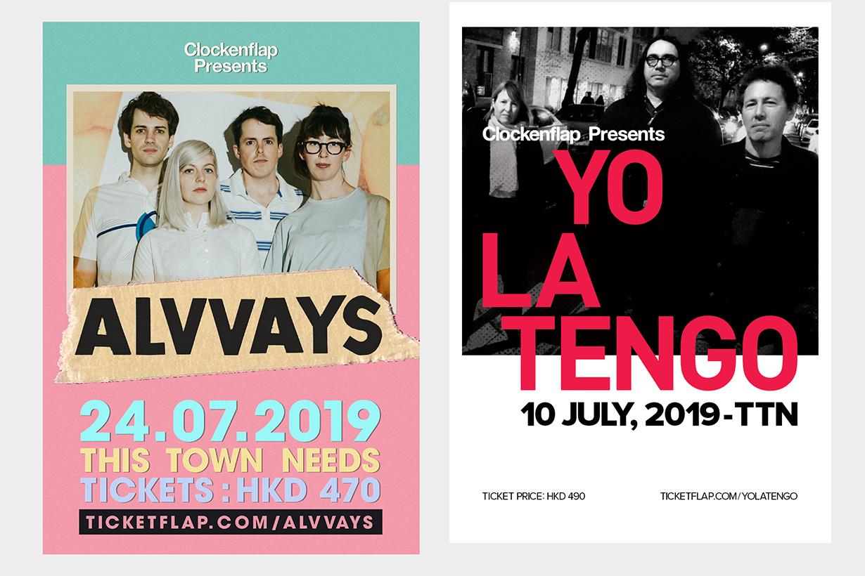 Clockenflap presents Alvvays The Jesus and Mary Chain Yo La Tengo