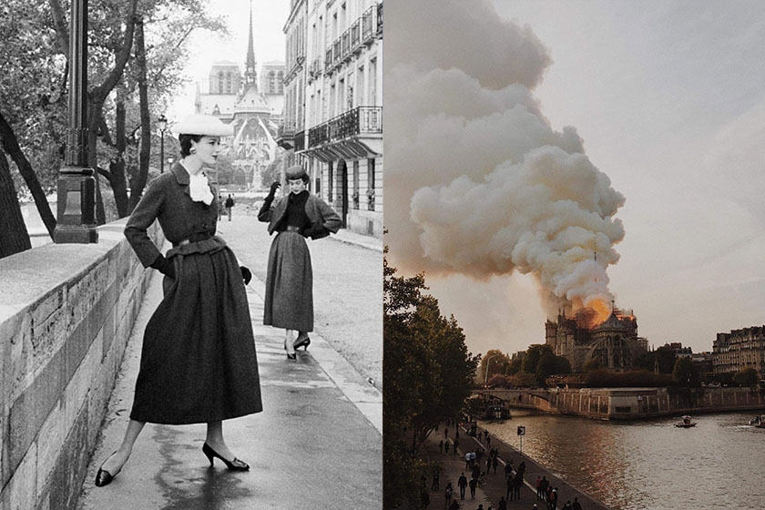notre dame de paris fire fashion giant donation