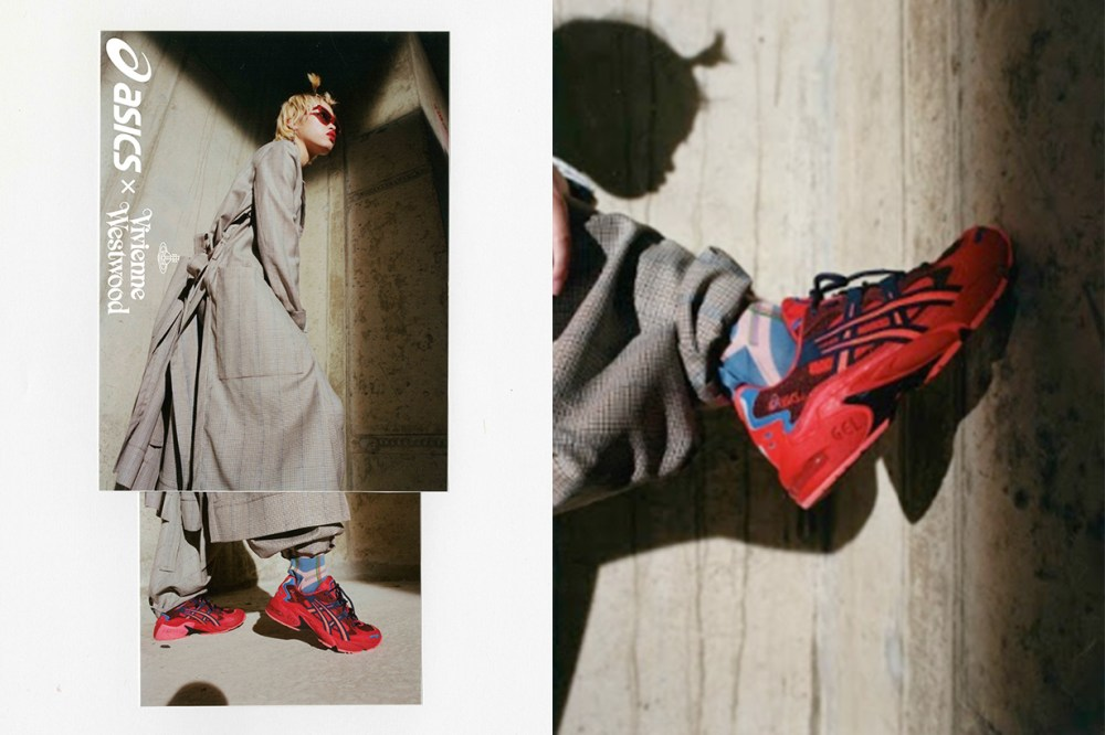 vivienne westwood asics gel mai kayano collabration