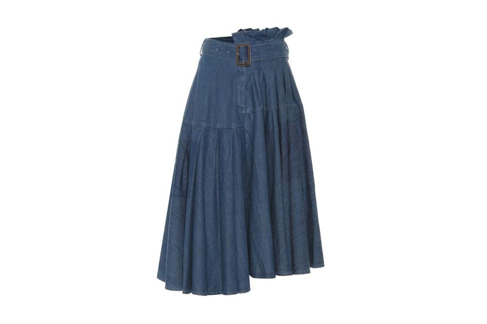 JW Anderson Asymmetric Denim Midi Skirt