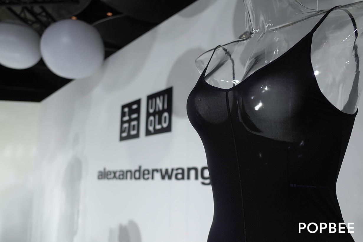 uniqlo alexander wang airism reveal taipei detail second