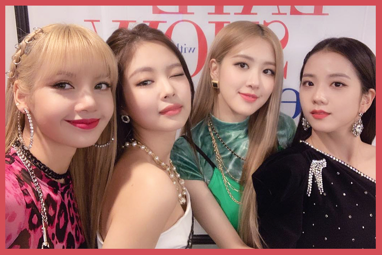 BLACKPINK Jennie Lisa Jisoo Rose 2019 comeback poster Kill this love don't know what to do kick it hope not ddu du ddu du remix blonde hair bang hairstyles k pop korean idols celebrities singers