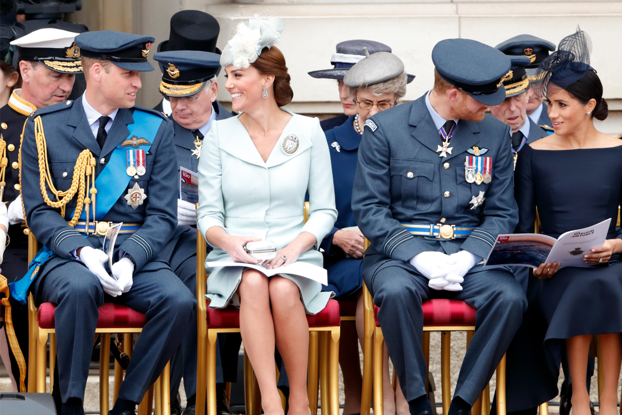 British Royal Family Prince William Prince Harry Kate Middleton Meghan Markle Queen Elizabeth II making fun of each other funny jokes teasing