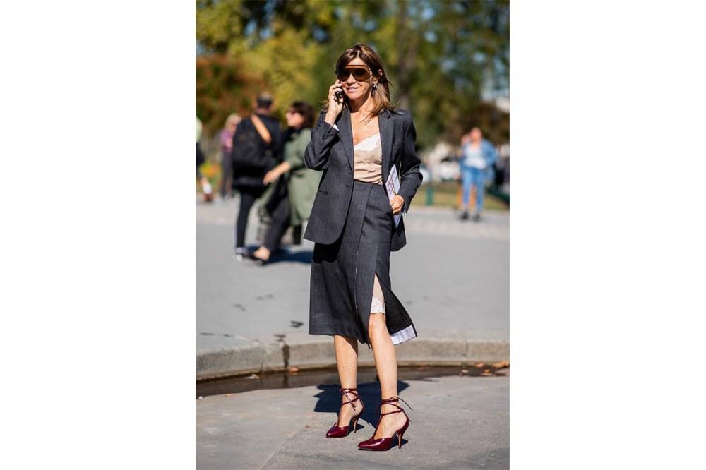 Carine Roitfeld Street Style
