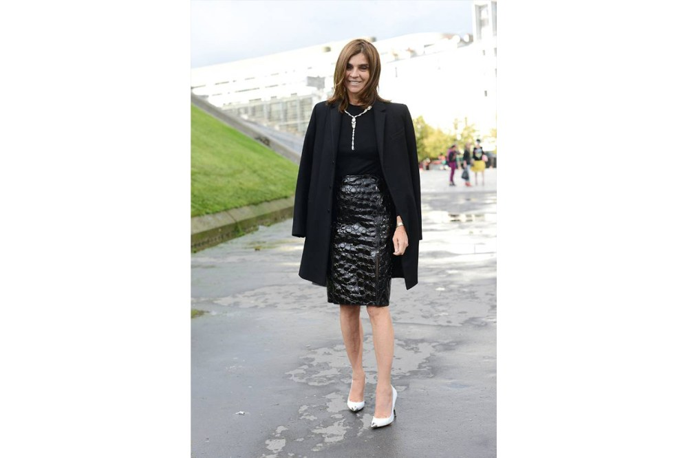 Carine Roitfeld Black Outfits Street Style