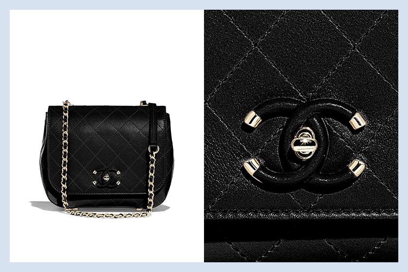 Chanel flap bag black