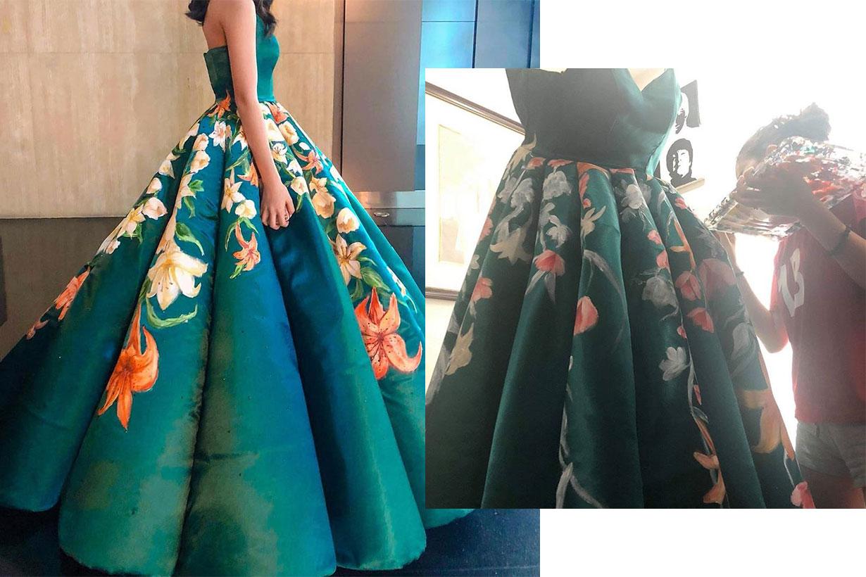 Ciara Gan graduation dress