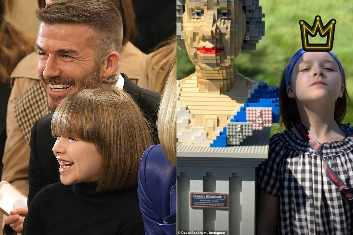 Harper Beckham David Beckhem legoland