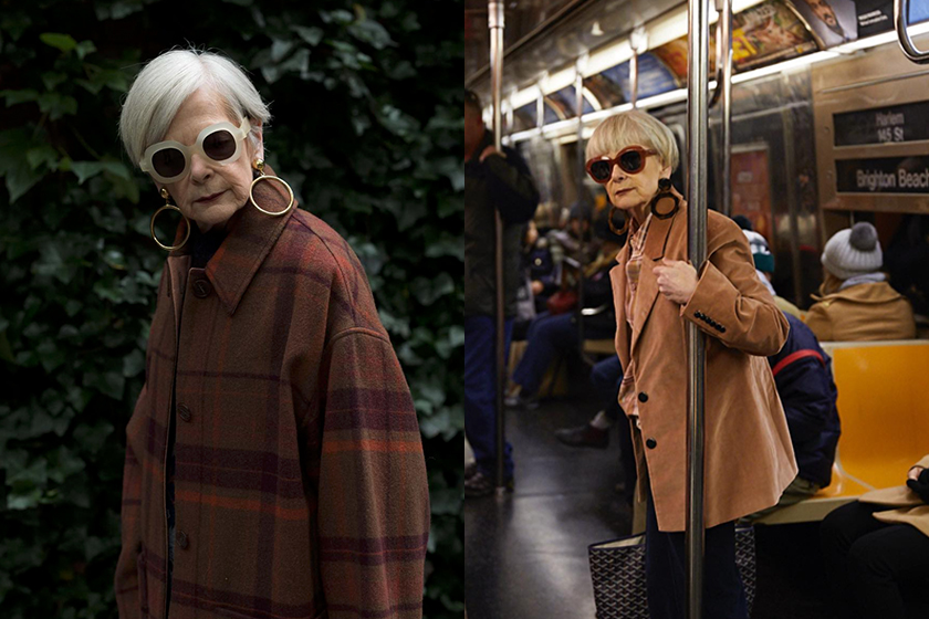 fashion blogger 64 years old Accidental Icon Lyn Slater