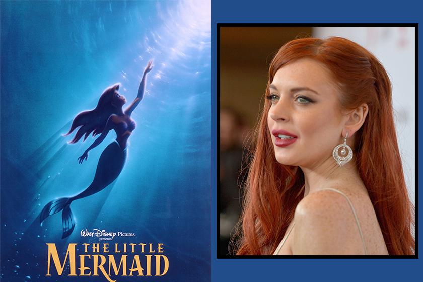 Disney The Little Mermaid Lea Michele Cast Lindsay Lohan Baffling Reaction