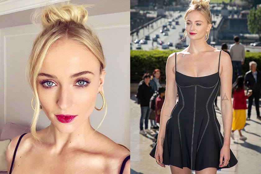 Sophie turner mugler 2019 dress xmen paris