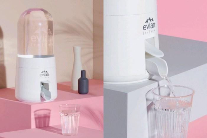 創意顧問 Virgil Abloh 的新產品:Evian 推出居家「泡泡飲水機」!