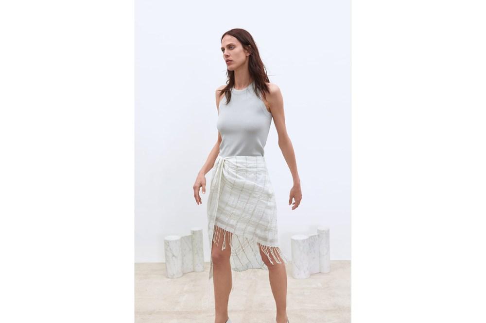 Zara Fringed Mini Skirt