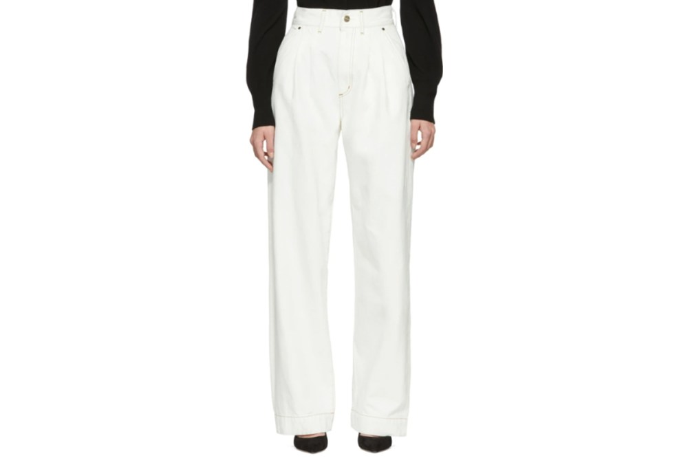 Goldsign White 'The Trouser' Jeans