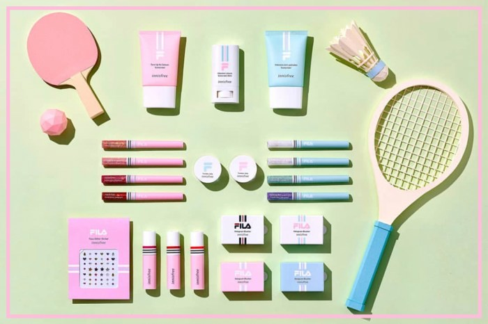 Innisfree X FILA 推出限定彩妝系列!實用持久產品配合粉嫩包裝難以抗拒