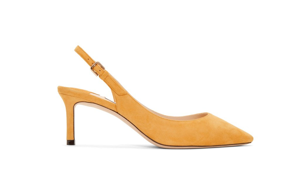 Jimmy Choo Yellow Suede Erin 60 Heels
