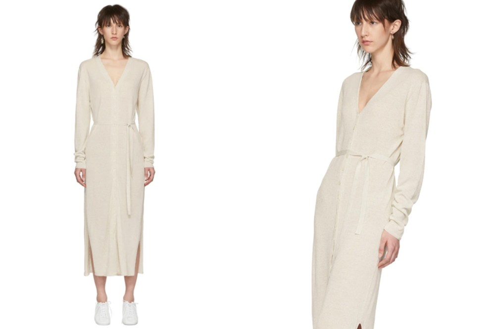 Lemaire Off-White Cardigan Dress