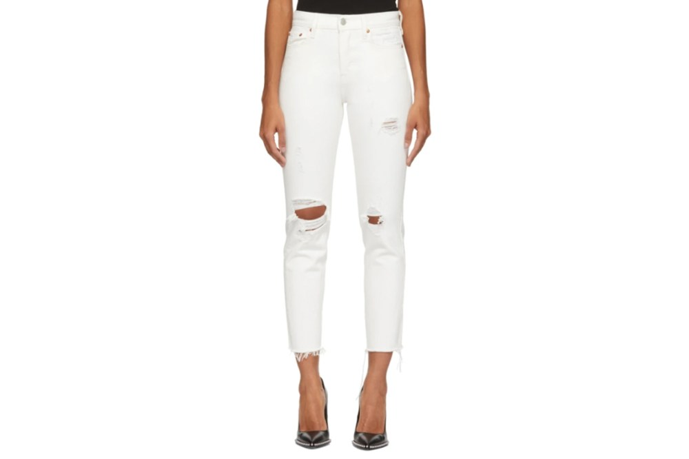 Levi's White Wedgie Icon Fit Jeans