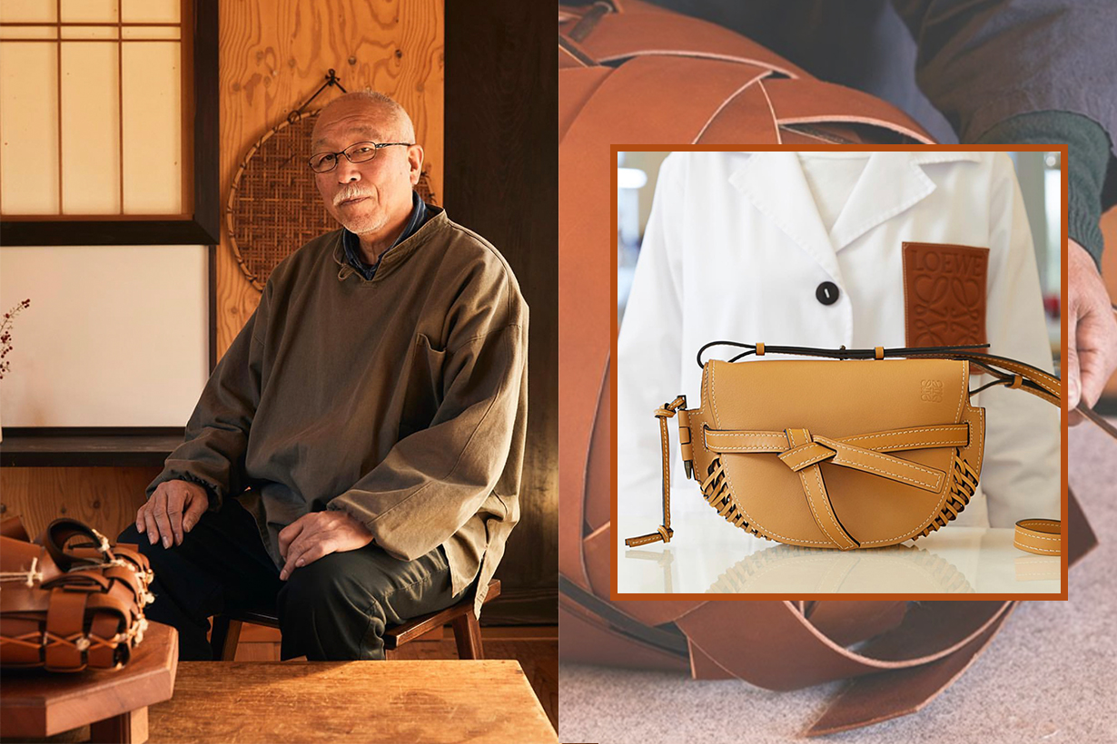 bamboo artists craft LOEWE leather into unique pieces at milan design week