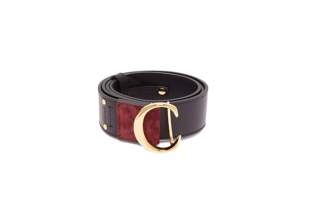 Chloé Monogram Buckle Leather Belt