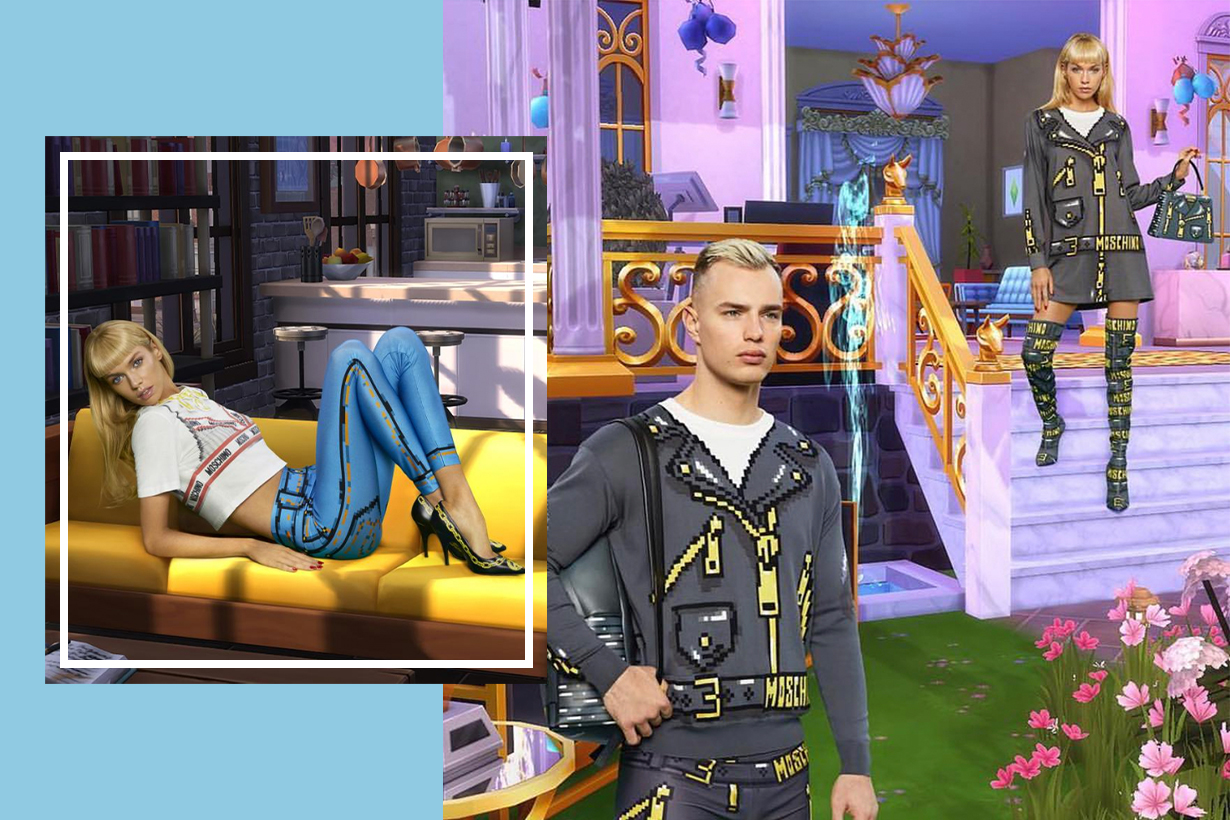 Jeremy Scott Seeks Inspiration From The Sims For Latest Moschino Collection