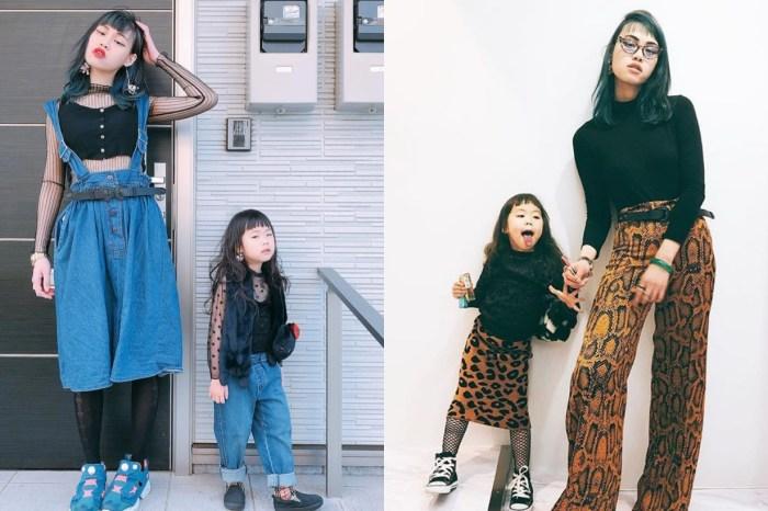 「型」是會遺傳的,日系潮媽母女裝 IG 爆紅!