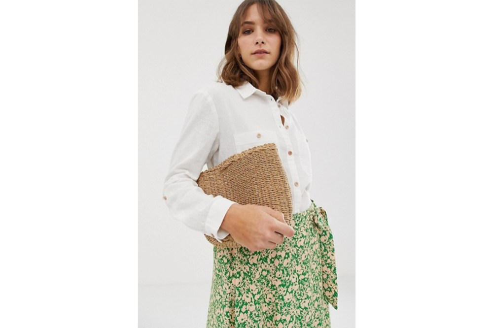 ASOS New Look Linen Shirt in White