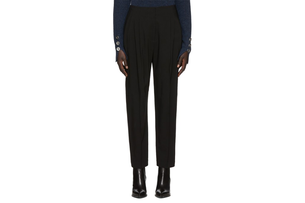 3.1 Phillip Lim Black Twill Pleated Trousers