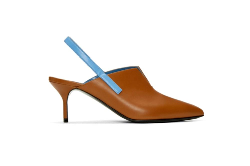 Pierre Hardy Brown & Blue Secret Slingback Heels