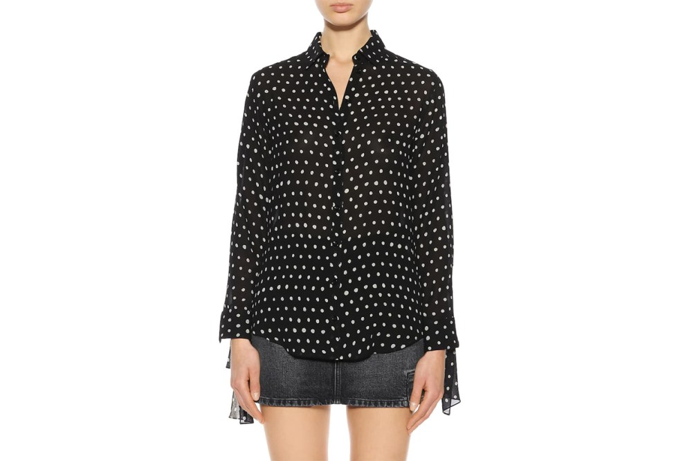 Saint Laurent Polka-Dot Shirt