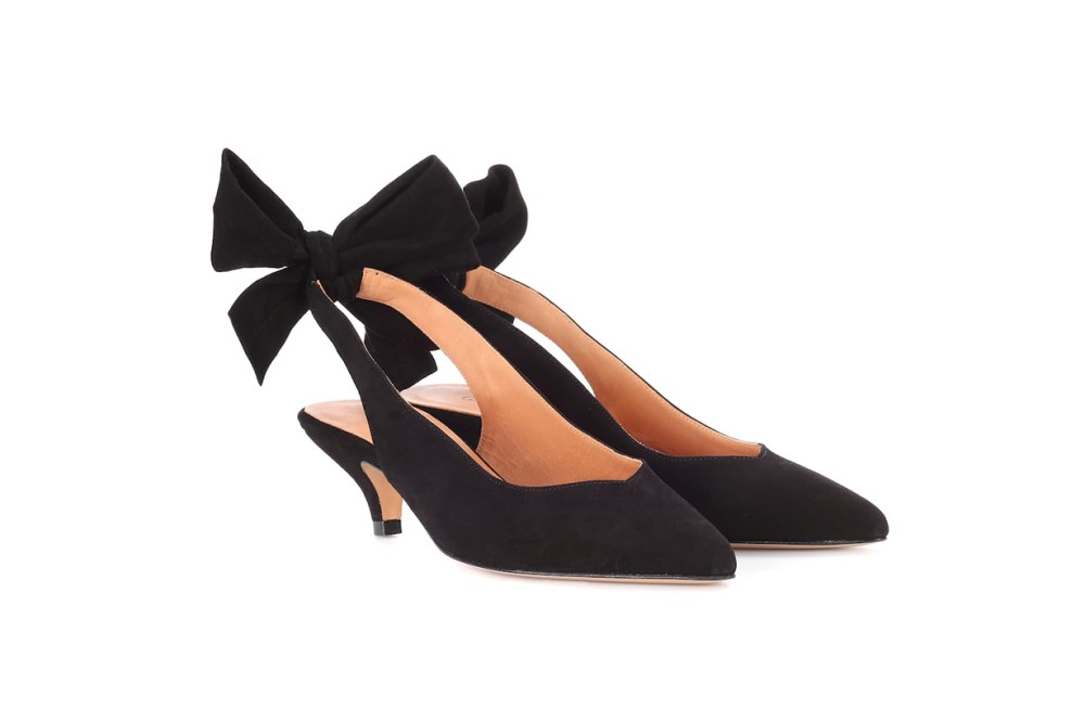 Sabine Suede Sling-Back Pumps