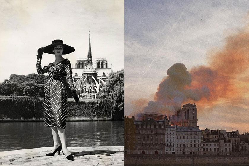 notre dame de paris fire fashion giant donation