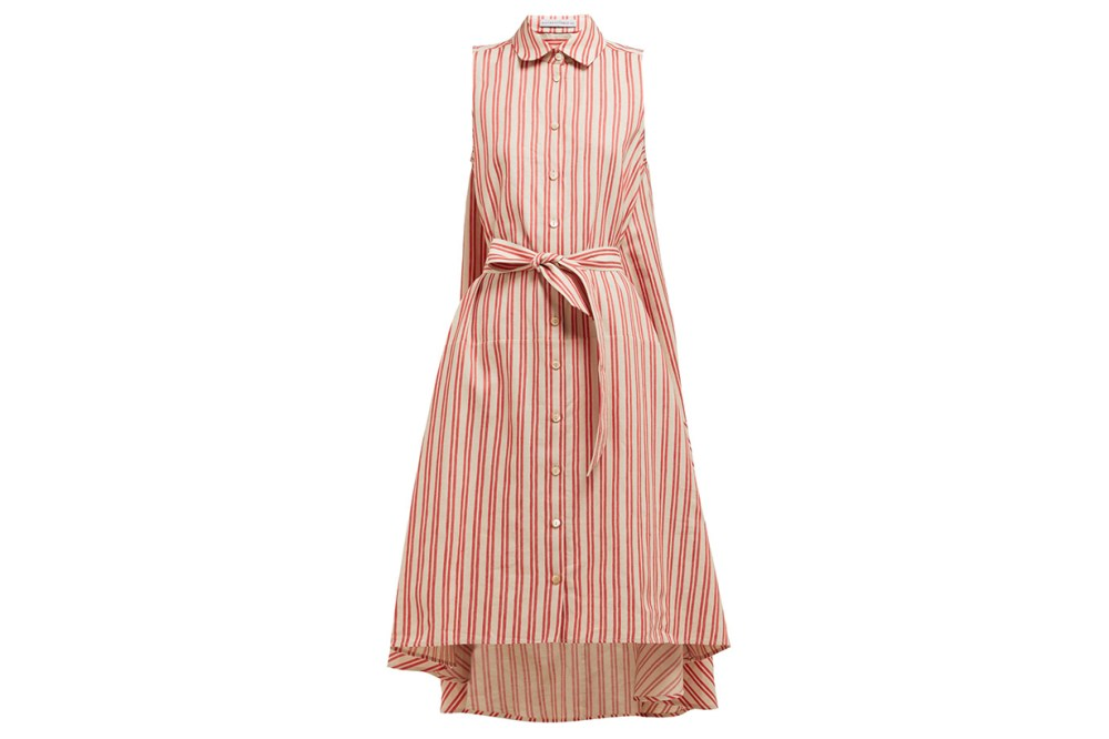 Sedona-striped-cotton-blend-shirtdress
