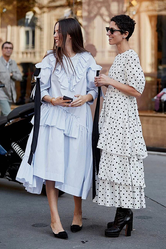 2019 fashion trend smock-dress-street-style