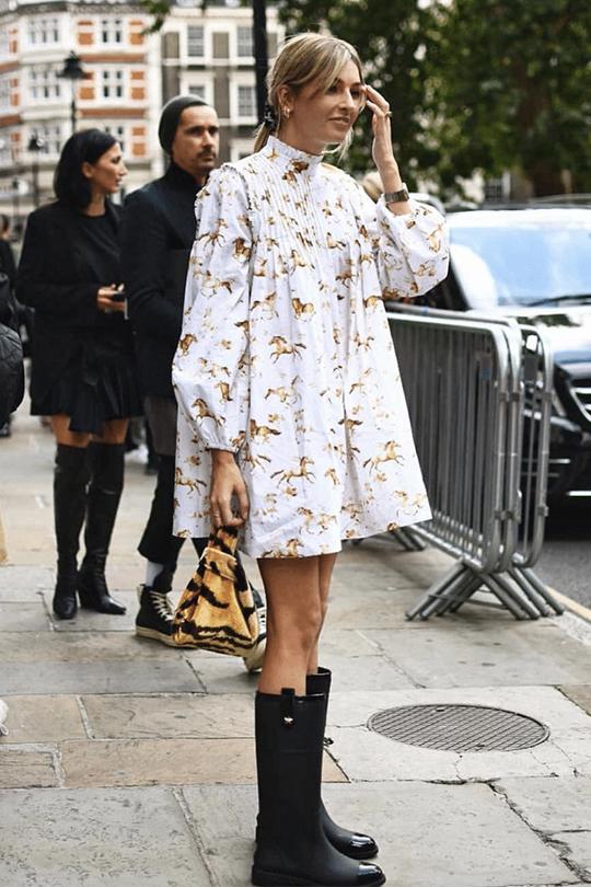 2019 fashion trend smock-dress-street-style